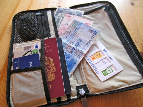 travel-wallet-with-money-sim-cards-cash-and-travelers-checks