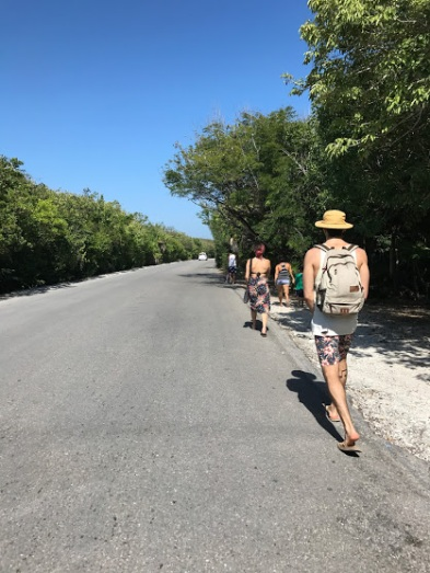The longest walk to the playa
